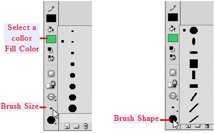 Brush Size and Brush Shape