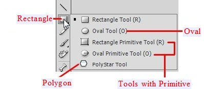 Rectangle, Oval, Polygon Tools