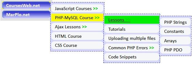 Recursive function to create Multi-Level Menu in PHP